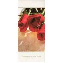 Pkg./100 Red Rose Tri-Fold Bulletins. Save 50%.
